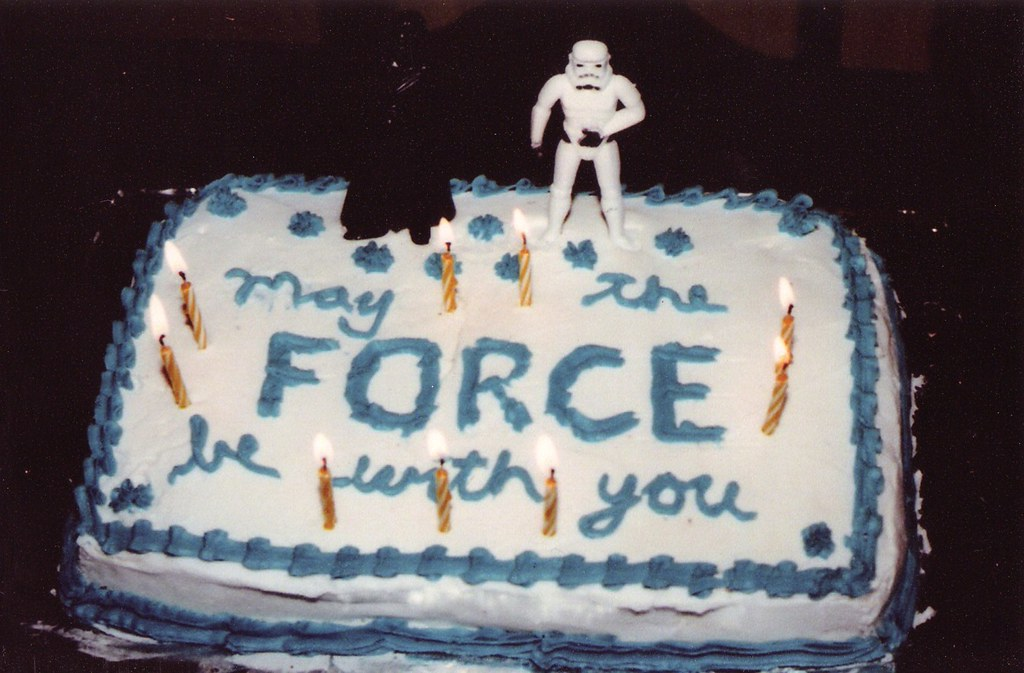 May The Force Be With You Star Wars Birthday Cake Flickr