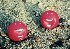 red nose day on the beach | by oblivion head