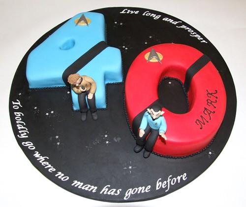 Star Trek 40th Cake