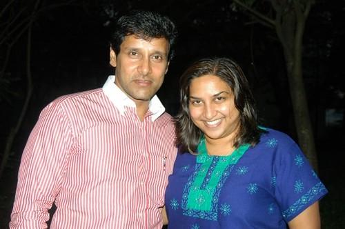 Tamil superstar, Vikram with Ashanti Omkar   Such a cool ...
