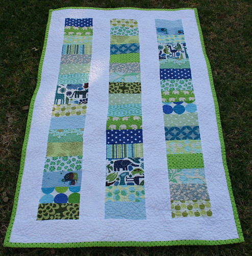 Stacked Coin Baby Quilt | by Better Off Thread