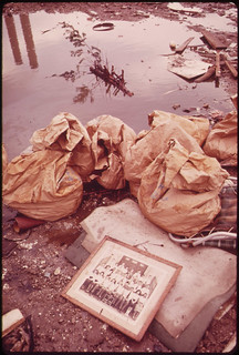 A Class Picture in the Trash. Dumped in Front of the New York City Incinerator Plant at Gravesend Bay in South Brooklyn 05/1973 | by The U.S. National Archives
