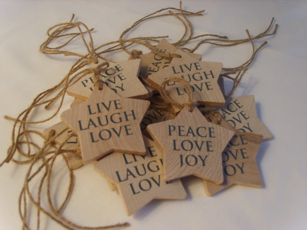 Live Laugh Love Handmade Wooden Stars A Lovely Piece Of Flickr