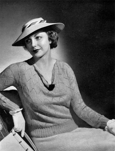 1930s Vintage Knitting Pattern Pattern Available At Babyde Flickr