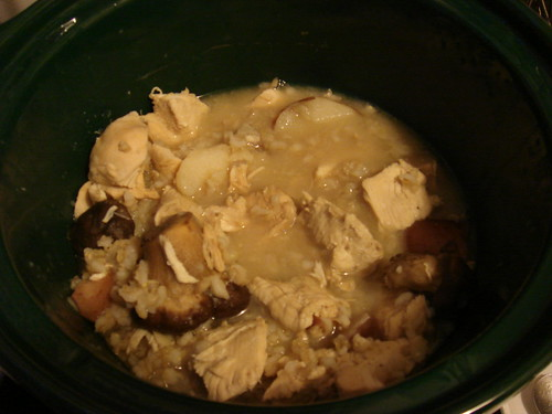 Sick Person Soup | chunks of poached chicken boiled new pota ...