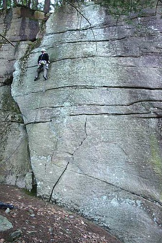Tim Murdock on Chicken Pox (5.10), Farley | by westernmassclimberscoalition