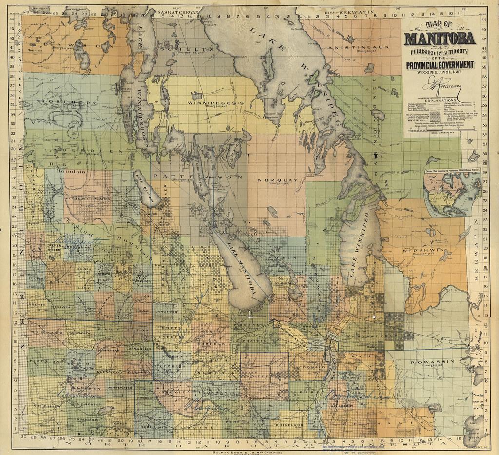 Map Of Manitoba Bulman Bros Co Map Of Manitoba Flickr - Manitoba map