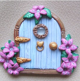 ... PatsParaphernalia Tiny Fairy Door Pin | by PatsParaphernalia  sc 1 st  Flickr & Tiny Fairy Door Pin | Hand made in polymer clay this fairy \u2026 | Flickr