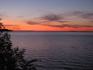 Sunset over Leech Lake | by katbaro