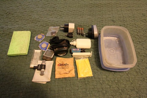 WT EQP: Plastic box (front/right pannier) with miscellaneous stuff | by Nicolai Bangsgaard