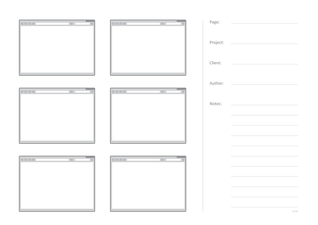 Web sketching template 6 pages this is a template in a4 flickr web sketching template 6 pages by maria perez de arrilucea pronofoot35fo Images