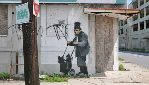 Abraham Lincoln by Banksy | by dullhunk