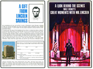 "Disneyland ""Mr. Lincoln"" Souvenir Program 1/3 