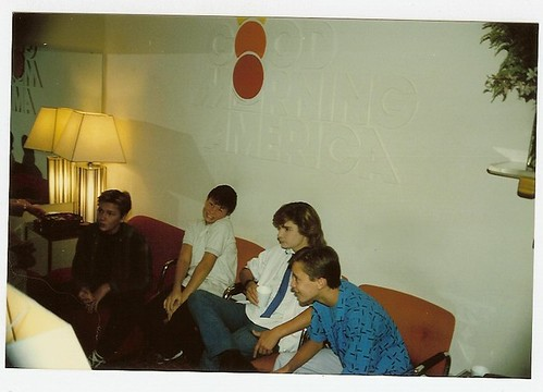 Waiting to promote Stand By Me on Good Morning America in 1986 | by WilWheaton
