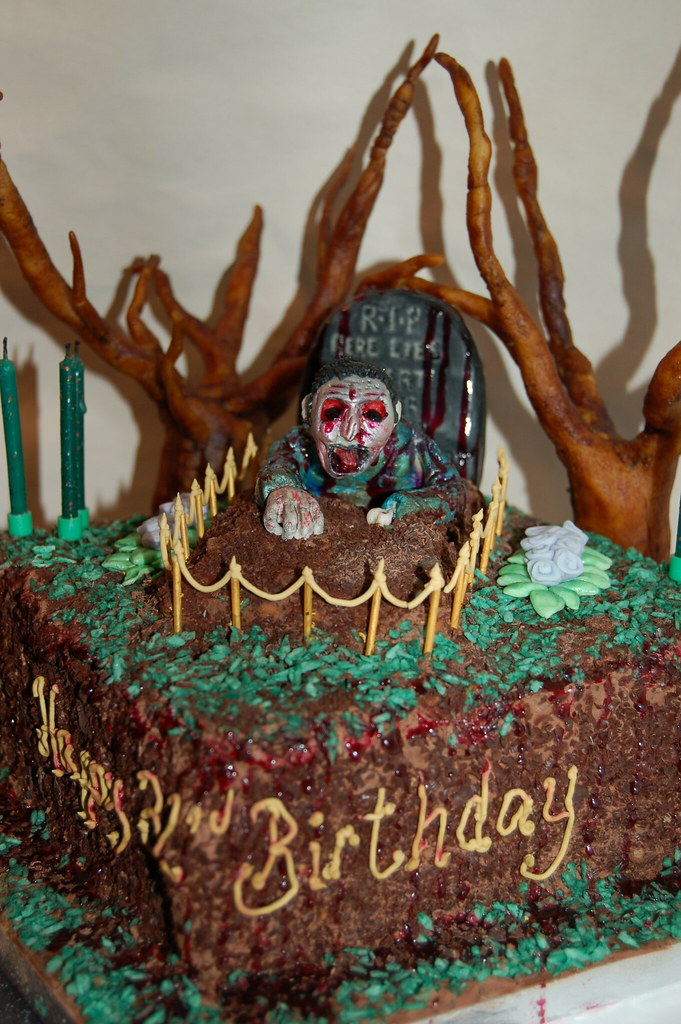 My Zombie Birthday Cake Made By The Very Talented Laura Fr Flickr