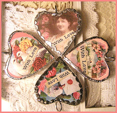 Soldered Valentine hearts | by Boxwoodcottage