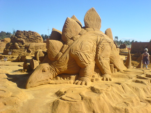 Dinosaur Sand Sculptures | by Stone Scarab