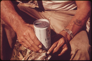 Hands of a Leakey, Texas, Resident Holding a Can of Beer, near San Antonio, 05/1973 | by The U.S. National Archives