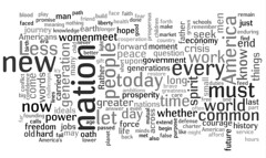 tag cloud of obama's speech | by emilychang