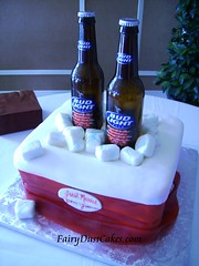Bud Light Beer Cooler cake | by FairyDustCakes