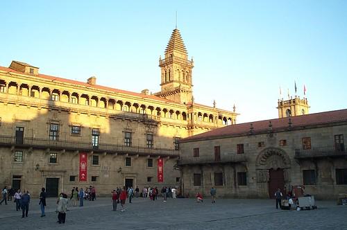 Plaza de Obradoiro en Santiago de Compostela