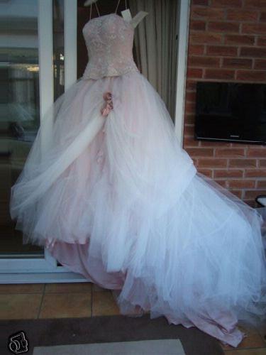 Ronald Joyce Pale pink wedding dress | Sarah Lou D | Flickr
