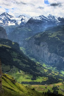 Murren and valley view from Mannlichen | by Ed Coyle Photography