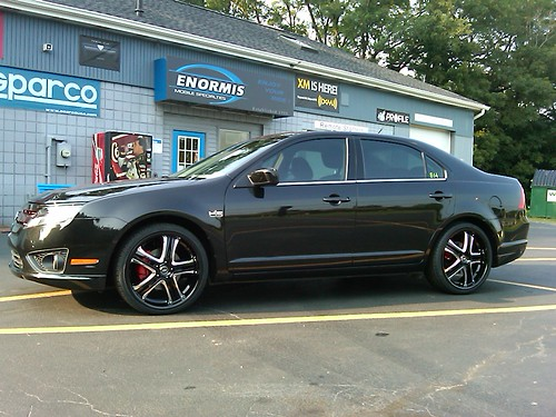 2010 ford fusion gets 20 wheels fosgate stereo tinted w flickr. Black Bedroom Furniture Sets. Home Design Ideas