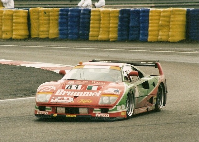 Ferrari F40 No41 Le Mans 1995 2 Exiting The Mulsanne Co Flickr