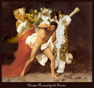 Orestes Pursued by the Furries, 'shopped by Anonymous | by xeni