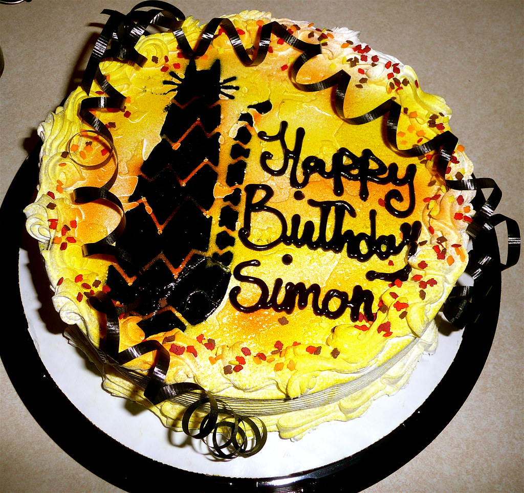 Simons Dairy Queen Ice Cream Cake With A Halloween Bla Flickr