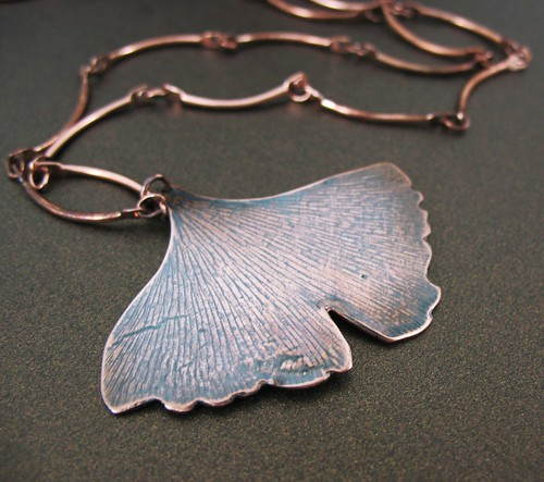 Ginkgo Leaf, Copper Necklace | by tigerlillyshop