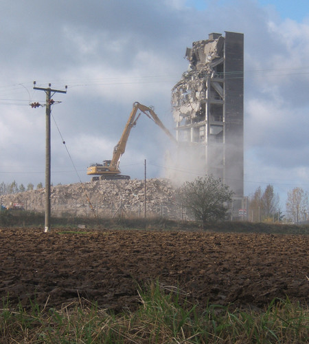 3 Silo Demolition : Haughley grain silo demolition see for full
