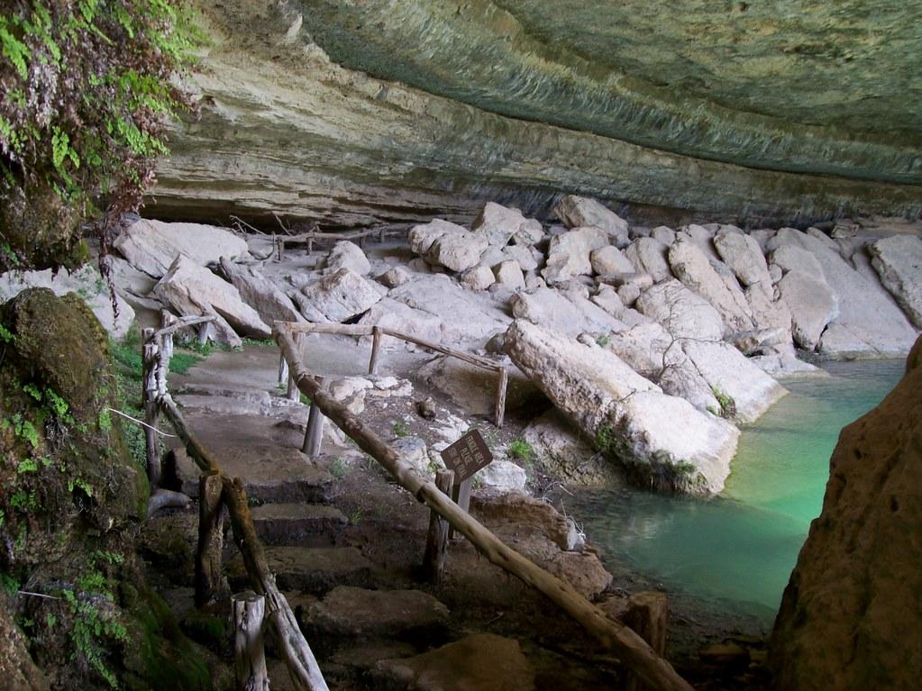 Walking Into The Underground Grotto That Makes Up Hamilton Pool Southwest Of Austin