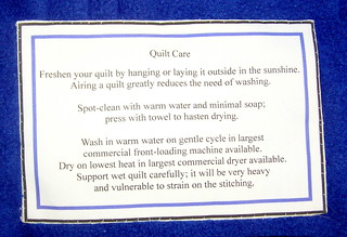 quilt care label | by normanack