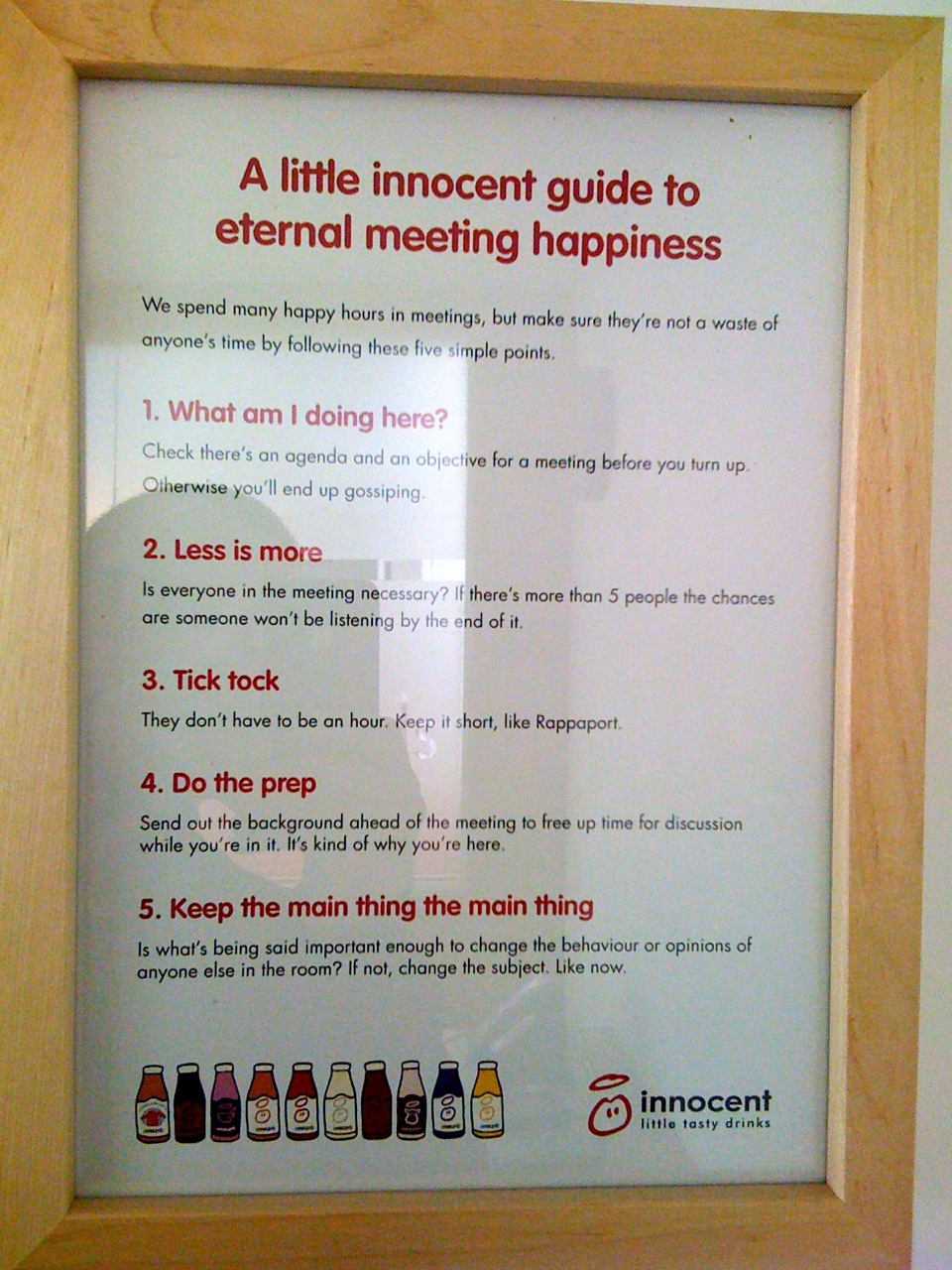 Innocent meeting guidelines