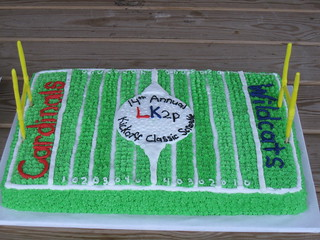 Cake Decorated Like A Football Field : Football Field A 1/2 sheet cake decorated like a ...
