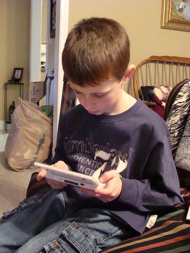 Enthralled with his Nintendo DS | by {just jennifer}