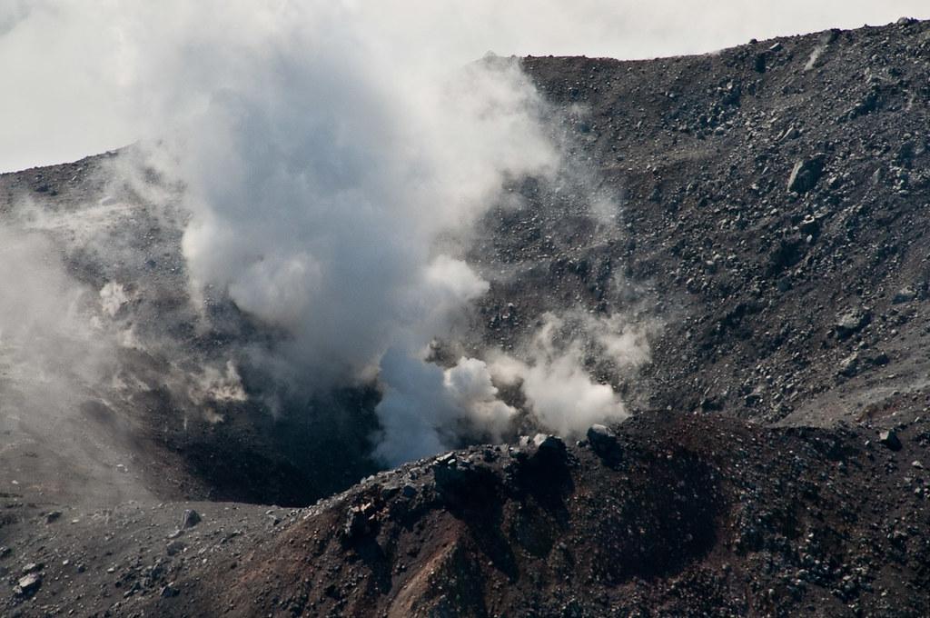 kanaga volcano steam vent kanaga volcano out the window of flickr