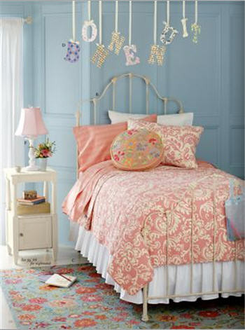Pink and Blue Bedroom | from the land of nod catalog | Flickr
