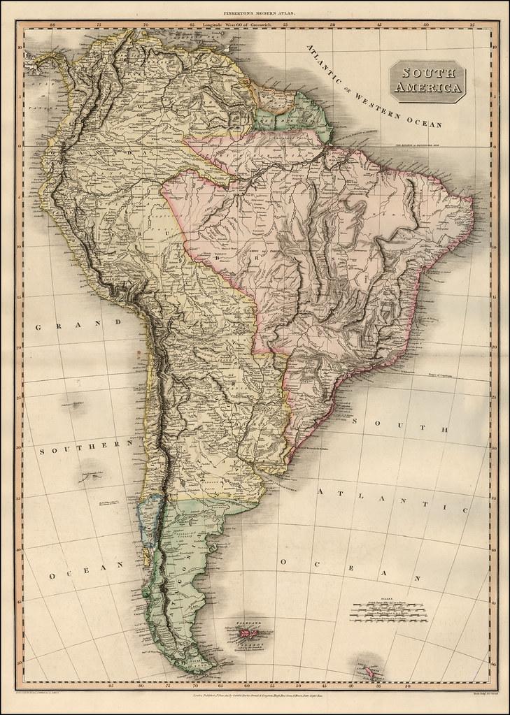 112 Mapa antiguo América del Sur (South America old map) | Flickr