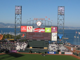 The Scoreboard from My Seat at AT&T Park -- San Francisco, CA, July 2, 2008 | by baseballoogie
