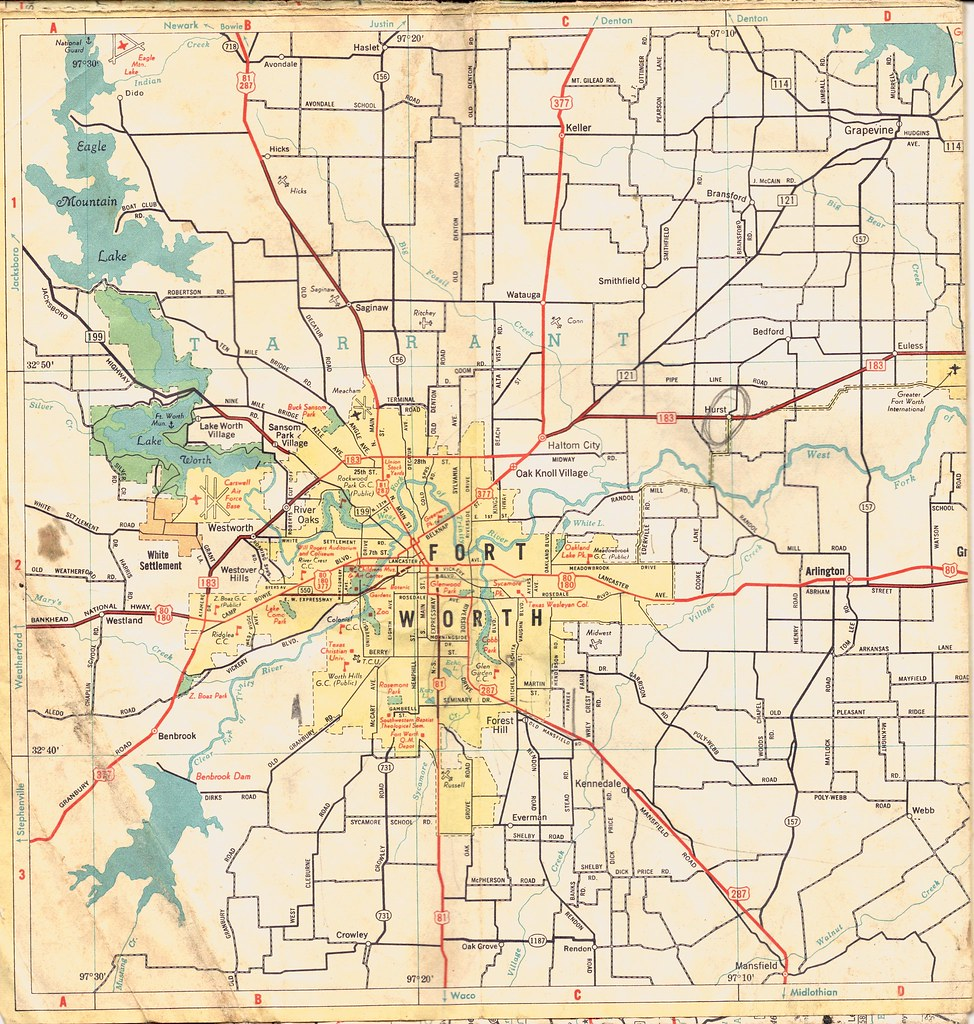 Ft. Worth Map | Old map of Fort Worth. I posted this because… | Flickr