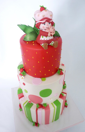 strawberry shortcake cake | by Tuff Cookie cakes by Sylvia