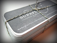 SupaFly.Designs Letterpress Business Cards | by SupaFly.Designs