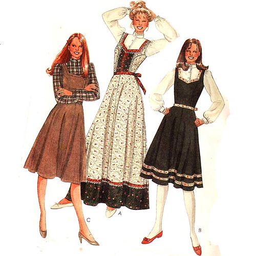 Vintage 1980\'s peasant corset dress sewing pattern | Flickr