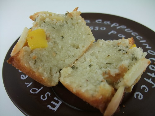 Rosemary and Peach Friands (Interior) | by swampkitty
