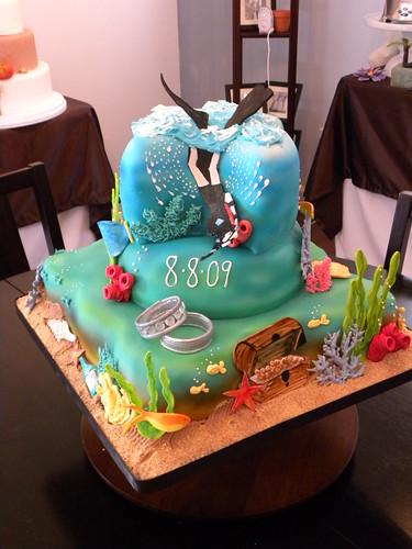 Scuba Groom S Cake Chocolate Cake With Fudge And