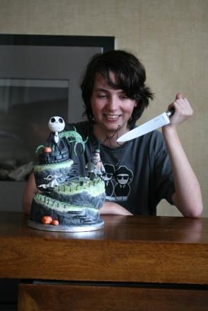 Nightmare Before Christmas birthday cake topsy turvy wonky Flickr