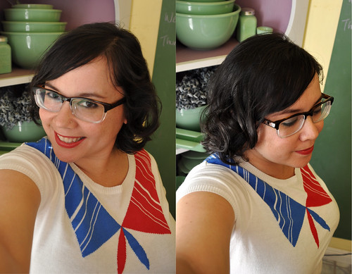 New glasses! And haircut! And pincurls! | by nillakitty